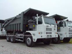 Sinotruk HOWO 50t 70t Heavy Duty Benne minière Camion-benne