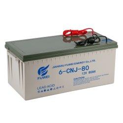 12V 80AH солнечной OEM свинцово-кислотных аккумуляторных батарей для светодиодных ламп