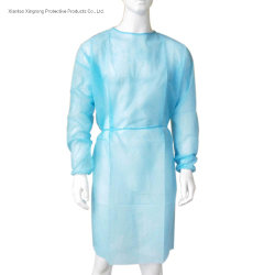 Abito con il polsino elastico, abito a gettare, abito non tessuto, abito di isolamento con il polsino lavorato a maglia