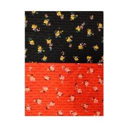Производство ткань из 100% хлопка новая конструкция из жаккардовой ткани трикотажные Джерси выполнять печать цветов