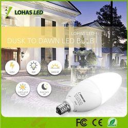 Lohas 6W E12 Sensor de luz da Lâmpada Vela inteligente automático ligado/desligado para o alpendre Jardim do Passeio