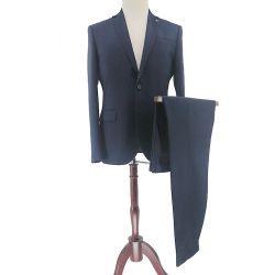 2 Piezas OEM Marina Slim Fit hombre de negocios trajes novio trajes trajes de chaqueta