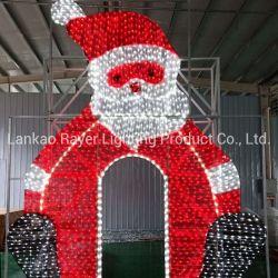 LED de Natal exterior Santa Motif Decoração de luzes de stop