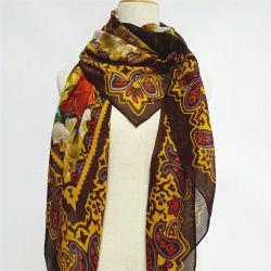 Seta stampata superiore della sciarpa di Hijab per le donne