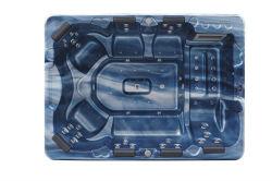 Monalisa 7 personas el tapón y el uso de caída al aire libre en acrilico Whirpool Swim SPA
