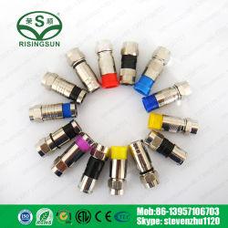 고품질 F 커넥터 Rg58 Rg59 RG6 Rg11 압축 커넥터