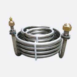 Bobine del condensatore della pompa termica, arrotolato di titanio degli scambiatori di calore, riscaldamento e serpentine di raffreddamento