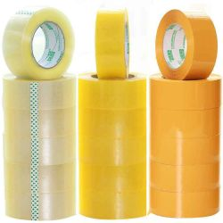 De sterke Zelfklevende Waterdichte Geelachtige Band van de Verpakking BOPP