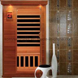 Petit Sauna en bois de cèdre rouge pour 1 personnes avec le carbone de chauffage et de radiateur de pied, salle de bain sauna sec que la santé de la beauté de l'équipement