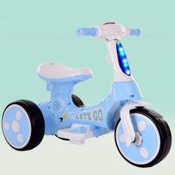 De Auto van het Stuk speelgoed van de goedkope Kinderen Met drie wielen van de Motorfiets van de Muziek van de Baby van Jaar 2-6
