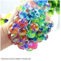 La main de l'exercice de poignet Slime Stress Novetly Squeeze de raisins de décompression à bille de jouets à billes