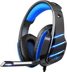 Juegos Juego de cable auriculares auriculares auriculares con micrófono estéreo Micrófono Cena Bass para PS4 Playstation 4 xBox uno de los jugadores