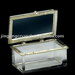 Caixa de jóias Caixa de vidro cristal