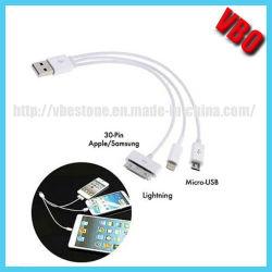 câble de données USB haute vitesse pour l'iPhone5, câble 8 broches plat (EC-301D)