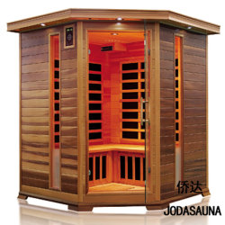 Joda Red Cedar Far Infrarood Sauna Corner voor drie personen binnen Droge Sauna kamer