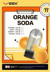 2020 populaire en Amérique meilleure céramique Veex appartenant à l'usine d'atomiseur de gros V4 Ecig Compatible Orange Soda 2ml jetable Pod