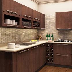 Foshan-Lieferanten-hoher Glanz-weiße Lack-Küche-Entwürfe mit Marmorstein