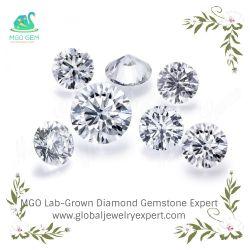 Joyas de MGO personalizada OEM Laboratorio de ECV crecido suelto el diamante sintético Igi 3 quilate H IS1 Ex Fancy Corte Esmeralda diamantes tallados para la fabricación de joyas