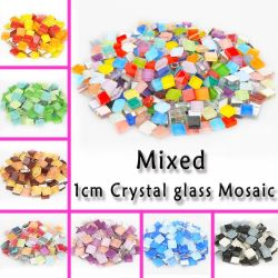 10 x 10mm Square Mosaico Mosaico de vidro cristal vermelho verde azul Fornecedor de Arte do mosaico das embarcações de bricolage, Mini-Tile Home Garden