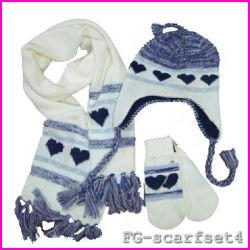 Обычная полярных флис шарфом,