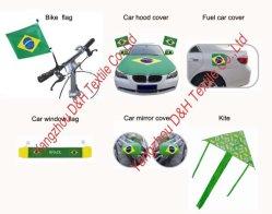 ブラジルのフットボールのファンの製品かサッカーのアクセサリまたはフットボール