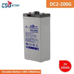 Csbattery 2V200AH Solar de ciclo profundo de la batería de gel para el Data-Center/Telecomunicaciones/UPS/Energy-Infrastructure/sustitución/VS: Sacred-Sun/Ritar