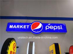إعلانات ترويجية للشركات الخفيفة المستطيلة LED المستطيلة الخارجي المستطيل LED مربع التوقيع