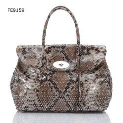 Eben Ankunfts-Pythonschlange PU-Handtasche (FE9159)