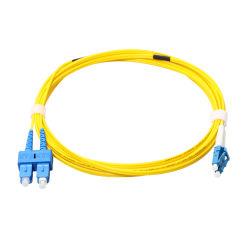 Sc-LC Terminais de fibra óptica monomodo Duplex com 5 metros