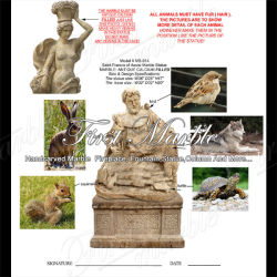 Antigüedades Hand-Carved travertino escultura para la decoración de jardín MS-914