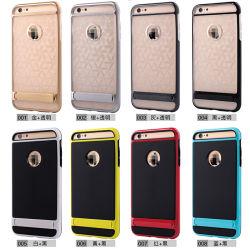 Los golpes de paragolpes de disco duro híbrido funda blanda para el iPhone6