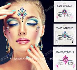 Face a face da moda 2018 Gems Jóias Stick no Corpo de Cristal Rhinestone jóias