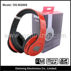 Беспроводные музыкальные наушники с ЖК-экраном и слот для карт памяти SD (OS-BQ968)