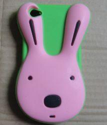 Девочек в 3D-Cute заяц силикон силиконовый чехол для iPhone5G (2S-SC 04)