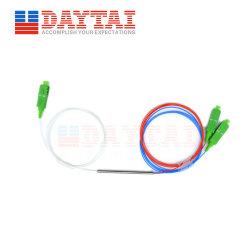 Accoppiatore FBT per tubo in acciaio splitter PLC da 1490/1310/1550nm 1X2 0,9mm