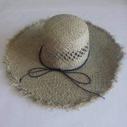 Slappe Hoed van het Stro van de Zon van de Rand van Panama van het Strand van de Zomer van de Vrouwen van de Manier van de douane de Vouwbare Brede