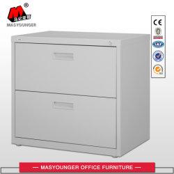 Meubles en métal 2 étagère 2 tiroirs Armoire de stockage de fichiers latéral