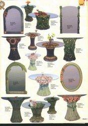 Mesa y el espejo con Polyresin Base de flores
