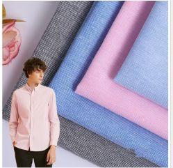 Yarn-Dyed CVC 50/50 Oxford Angleterre Classic tenue décontractée Shirt tissu uniforme