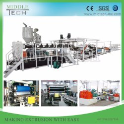 PlastikPE/PP/PVC/ABS/HIPS/Spc/Polycarbonate/PMMA Wand/Fußboden/nachgemachter Marmor/schäumender Vorstand-/Dach-Fliese Sheet& Platten-Strangpresßling/Extruder, der Maschine herstellt