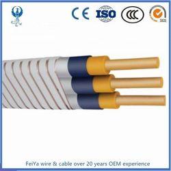 Le prix d'usine submersible électrique de pompe à huile Prix d'alimentation haute tension des câbles plats fournisseurs esp