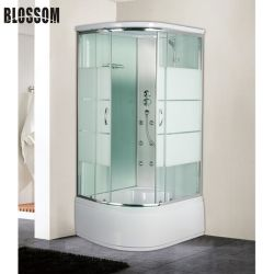 Gesundheitliche Ware-Badewannen-Glasdampf-Badezimmer-Dusche mit hohem Tellersegment