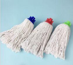 Einfache Verkaufs-Felder waschbarer nasser Microfiber Baumwollfußboden-Mopp-Kopf mit Plastikkontaktbuchse
