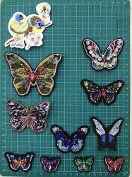 Paillettes Butterfly Handmade patch broderie de perles