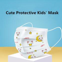 Mooie Jonge geitjes 3 het Masker van het Gezicht van de Beschikbare van het Kind van de Dekking van het Gezicht van de Vouw Kinderen van het Ademhalingsapparaat Beschermende met Verschillende Arwork