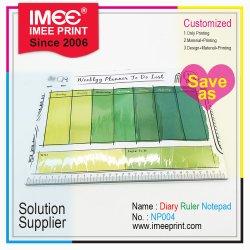 Imee Tamaño personalizado de impresión Colores de forma de lápiz Regla Calendario Caja de almacenamiento pegajosa o Non-Post blocs de notas Bloc de blocs de papel