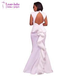 Trendy weißes Kleid Frau sexy Abendkleidung (L5028)