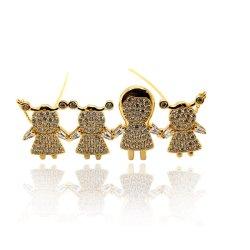 Monili di modo/oro all'ingrosso dell'argento sterlina 925 placcato con la mamma della CZ, figlio, collana famiglia/del derivato