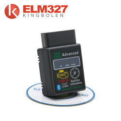 Mini Elm327 v2.1 Bluetooth HH OBD Elm 327 Advanced OBDII OBD2 Car Diagnostic Tool قارئ رمز الماسحة الضوئية لنظام Android