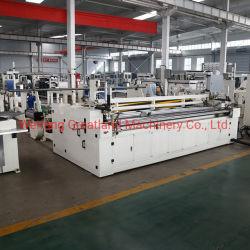 Automatique de papier hygiénique et gaufré perforé la fabrication du papier cuisine serviette rembobinage de la machine à papier